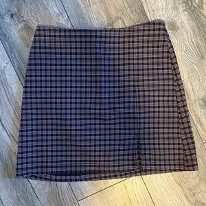 Urban outfitters plaid mini skirt